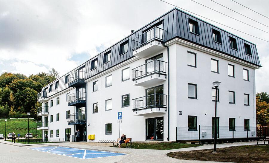 Zdj. 3. Budynek mieszkalny z 2017 roku – Gdańsk. Wykonawca: Multicomfort. Drewniane budynki wielorodzinne.