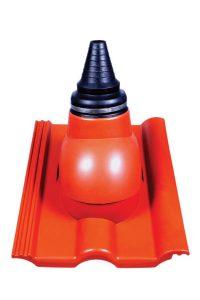 Kominki wentylacyjne Toolco: przejście antenowe do dachówek betonowych
