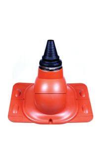 Kominki wentylacyjne Toolco: przejście antenowe do pokryć blaszanych uniwersalny z gumą EPDM
