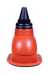 Kominki wentylacyjne Toolco: przejście antenowe na gont, papę, blachę trapezową