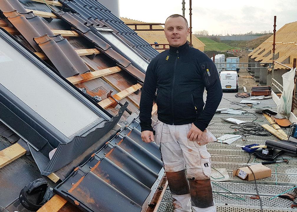 Andrzej jedenaście lat na duńskich dachach.