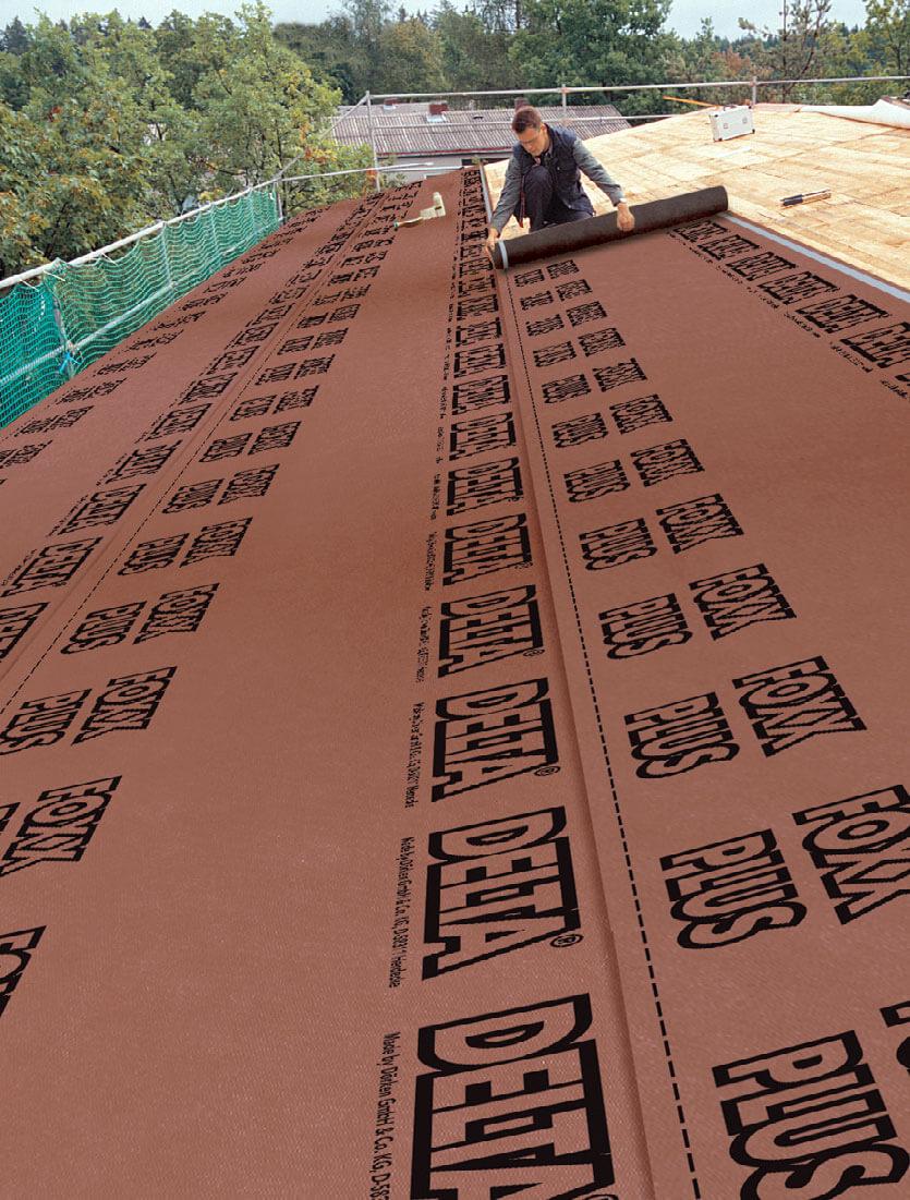 Delta®-Foxx Plus i dach oddycha - ultranowoczesne rozwiązanie na deskowanie dachu