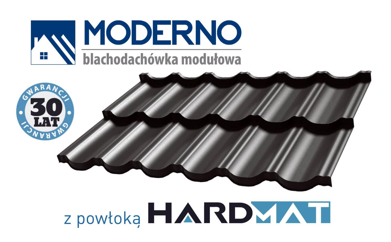 Moderno blachówka modułowa z powłoką Hardmat Handbud