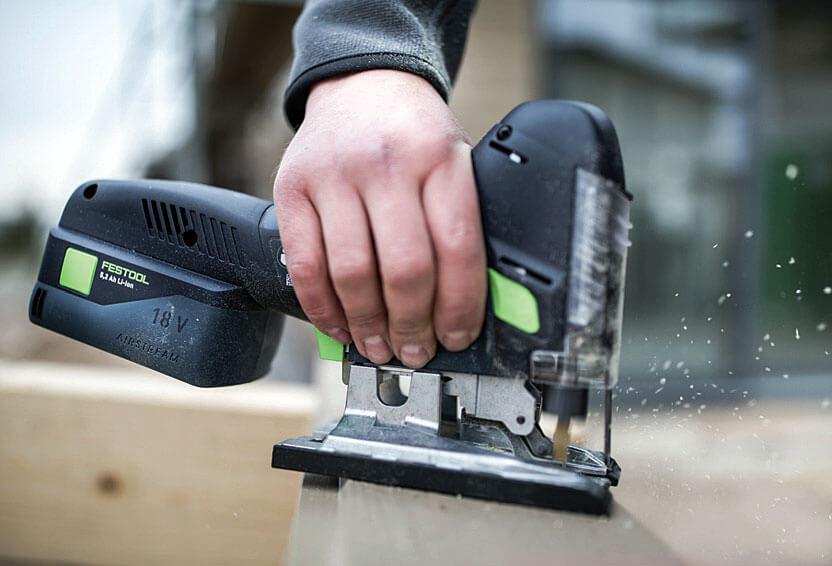 Elektronarzędzia dla budownictwa drewnianego: wyrzynarka Festool PSC 420 Li
