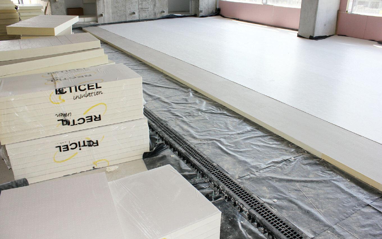 Izolacja cieplna podłogi z wykorzystaniem płyt RRECTICEL Izolacje