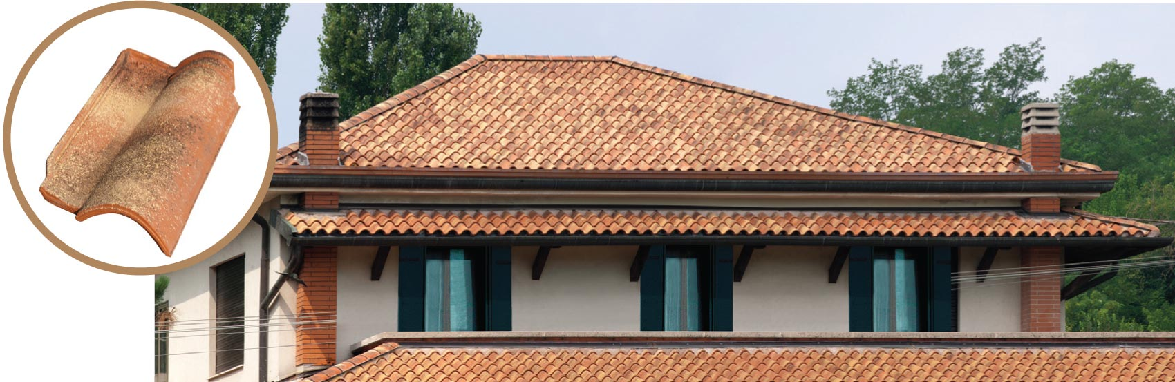 Dachówka firmy Tognana, Tuscany, kolor Dolomite.