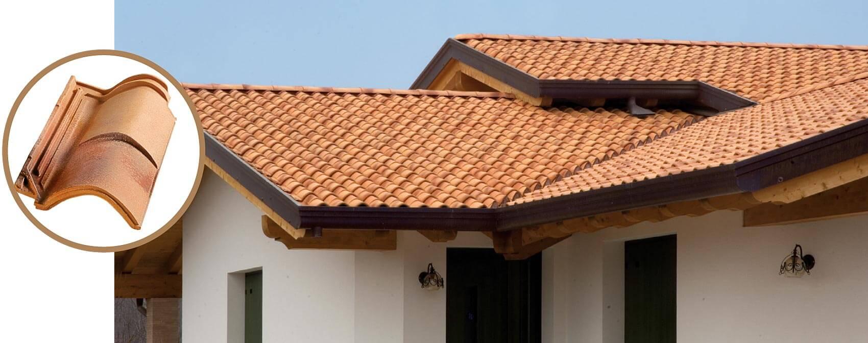Dachówka firmy Tognana, Royal Coppo, kolor Neobaroque.
