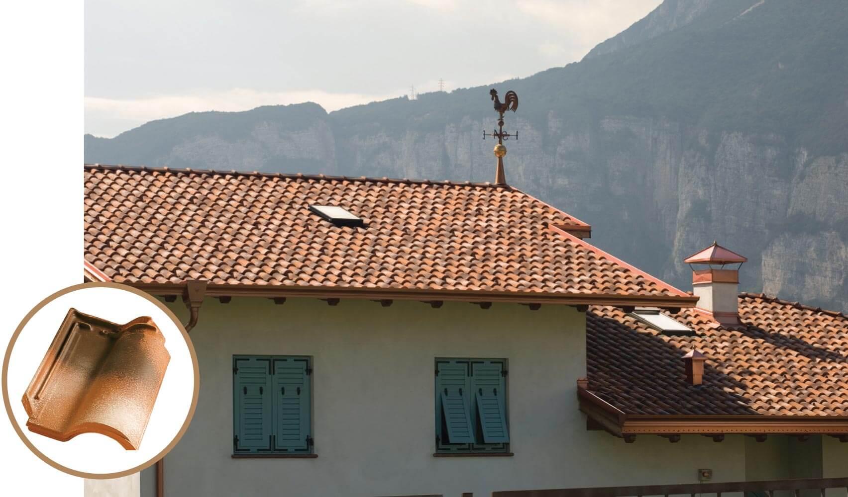 Dachówka firmy Tognana, Portugalka, kolor Neoclassic.