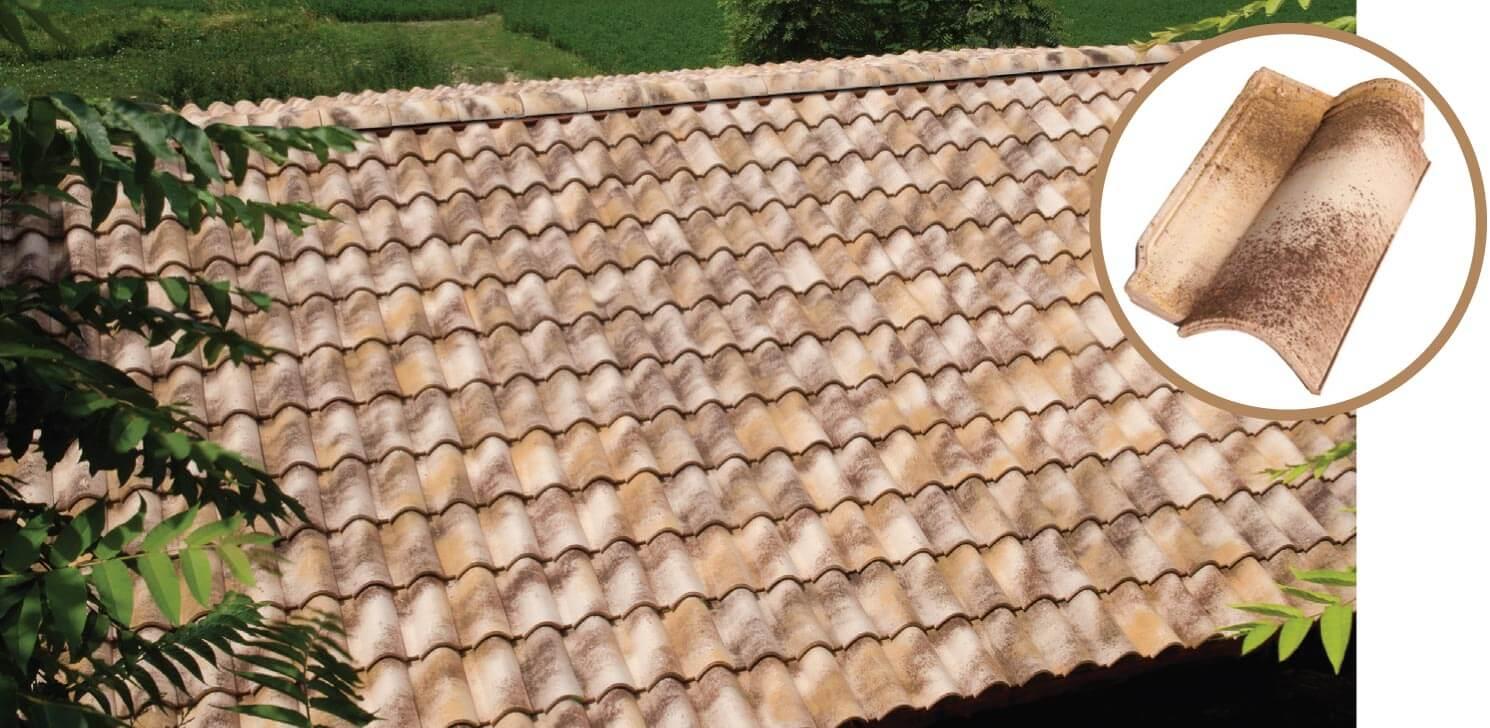 Dachówka firmy Tognana Tuscany kolor Moonlight.