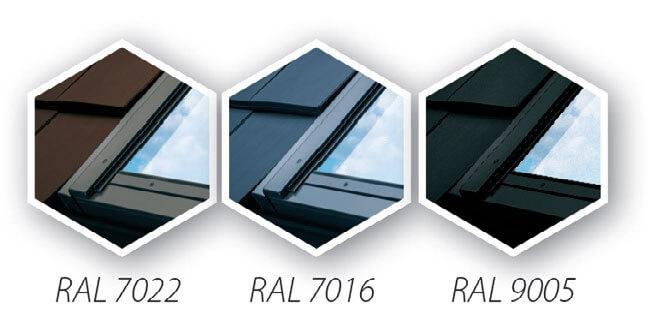 Trzyszybowe okna dachowe - kolorystyka zewnętrzna