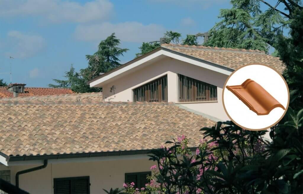 Dachówki San Marco, Portugalka C.F., kolor Flamina