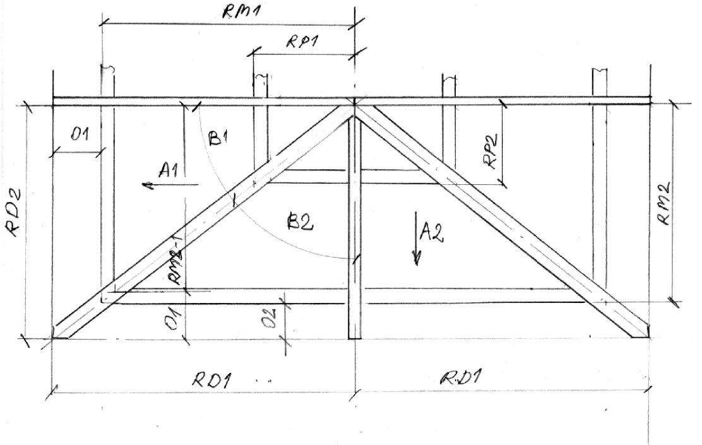 Rewelacyjny Matematyka i geometria dachu kopertowego - Dekarz i Cieśla KT36