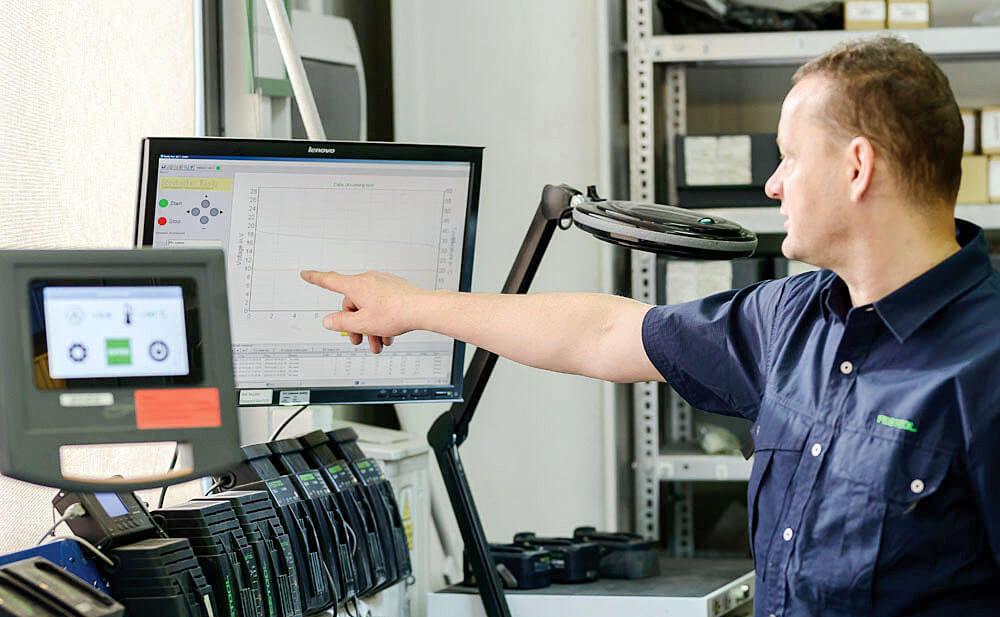 Urządzenia naprawcze i kontrolne zaprojektowane specjalnie dla Festool. Festool SERVICE