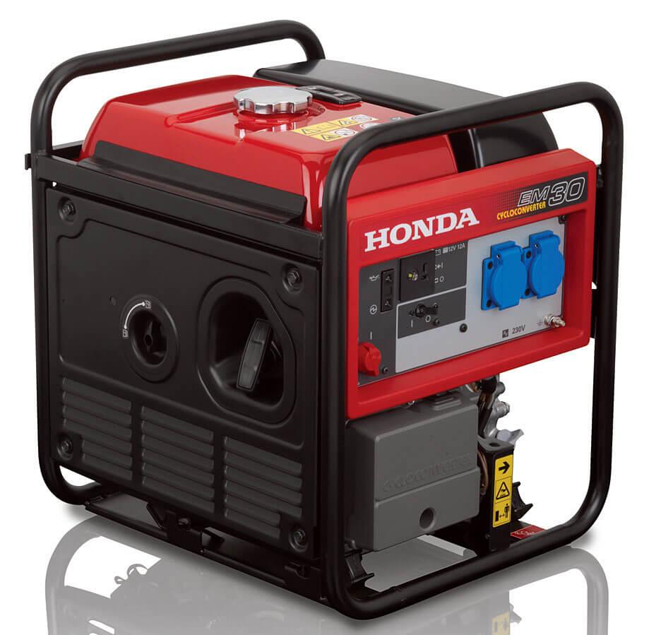 EM30 – Kompaktowa konstrukcja, długi czas pracy. Generatory Honda