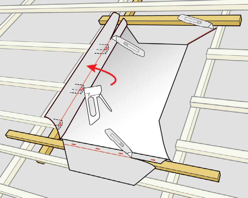 Zabezpieczenie membrany. Montaż okien do poddaszy VELUX