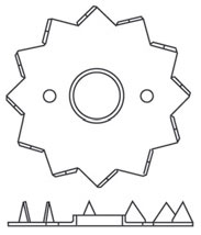 Pierścień kolczasty jednostronny Bulldog C2
