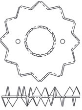 Pierścień kolczasty dwustronny Bulldog C1