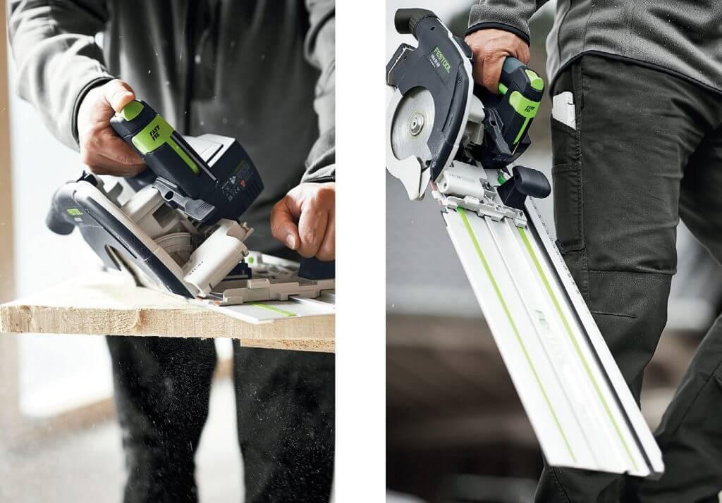 Ręczne pilarki tarczowe akumulatorowe i elektryczne