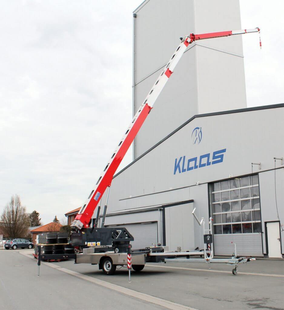 Nowość Klaas – żuraw na przyczepie Klaas K400