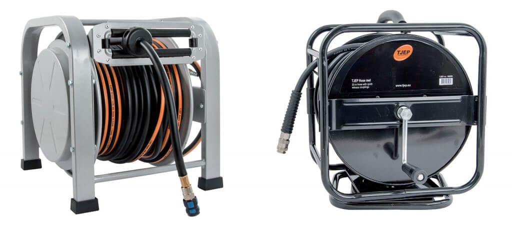 Fot. 3. Wąż na bębnie o długości 30 m (automatyczny lub ręczny) to bezpieczna metoda podłączenia gwoździarki do kompresora.