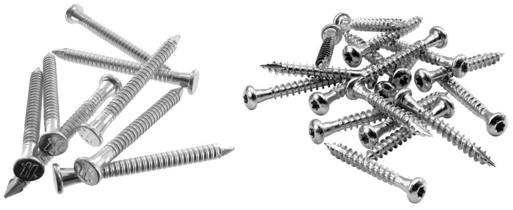 Zdj. 3. Systemowe łączniki do złączy – gwoździe CNA i wkręty CSA.