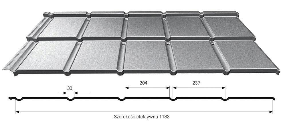 Fot. 1. System Galeco IZI – wymiary arkusza blachy.