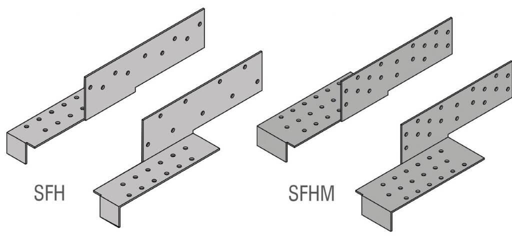 Zdj. 7. Złącza SFH / SFHM do przenoszenia dużych sił rozporów z krokwi na murłatę.
