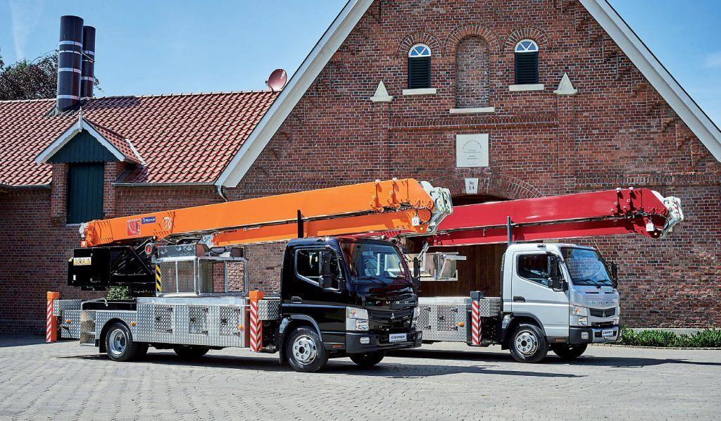 Żuraw na samochodzie ciężarowym Klaas K700
