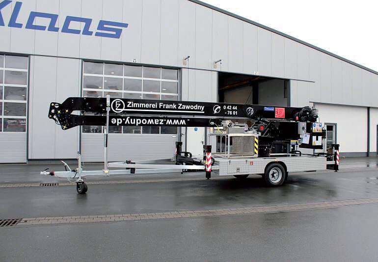 Dźwig na przyczepie K23-33 TSR.
