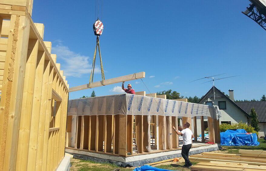 Drewniana konstrukcja do solidnego domu