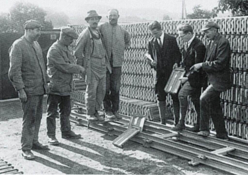 Prezentacja nowej dachówki w zakładzie CREATON w Dorfen - 1935 rok