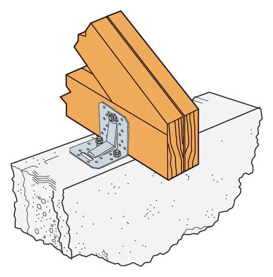 Zdj. 5. Montaż wiązarów bezpośrednio do wieńca z pominięciem murłaty (izolacja pominięta dla przejrzystości rysunku).