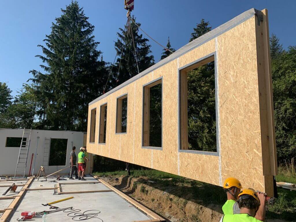 Systemowa konstrukcja ściany STEICO w standardzie REI 60 zastosowana w budynku kancelarii