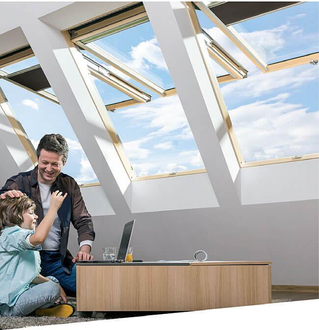 Uchylno-obrotowe okna dachowe FPP-V U5 preSelect MAX