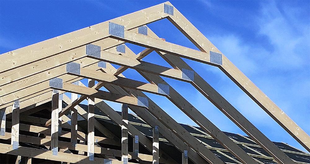 Zdj. 2. Połączenie jętka-krokiew w przypadku prefabrykowanych wiązarów dachowych.